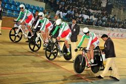 İranlı milli bisikletçiler gümüş madalya kazandı