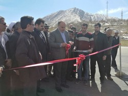 ۴ کیلومتر راه آسفالته در محور کرند- سرپلذهاب افتتاح شد