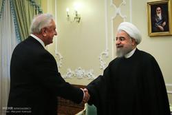 Belarus Parlamentosu Başkanı, Ruhani'yle görüştü