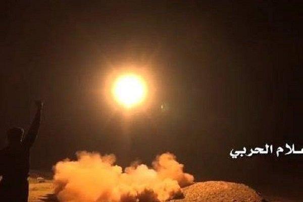 الصاروخية اليمنية تستهدف بصاروخ باليستي بدر 1 شركة أرامكو السعودية بنجران