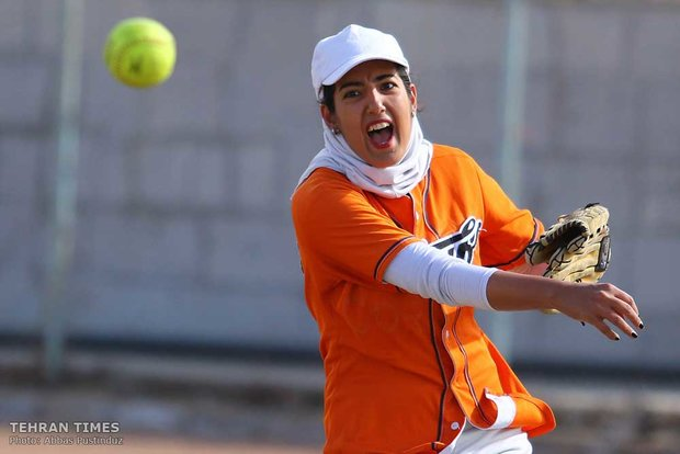 Iran women's national softball team training
