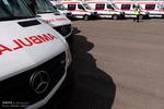 رونمایی از 21 دستگاه آمبولانس جدید اورژانس در کرمان