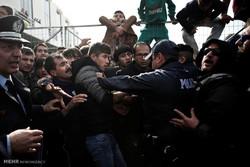 یونان میں پناہ گزینوں کا مظاہرہ