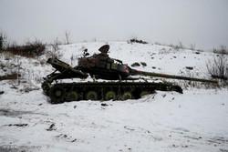 یوکرائن میں موسم سرما میں بھی لڑائی  جاری