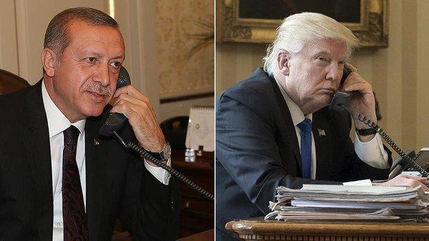 Erdogan, Trump speak through telephone