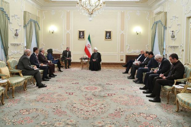 روحاني: أمريكا اليوم عاجزة عن الحصول على إجماع عالمي أكثر من اي وقت مضى