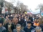 راهپیمایی ۲۲ بهمن در سراسر کرمانشاه/ عید انقلاب زیر باران