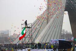 Fotoğraflarla Tahran'daki zafer gösterileri