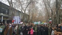 مردم طرقبه شاندیز در راهپیمایی ۲۲ بهمن گرم و پر شور حضور یافتند