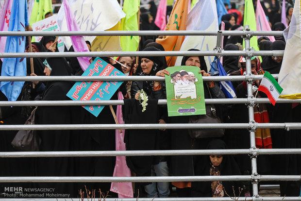 مسيرات انتصار الثورة الاسلامية في العاصمة طهران