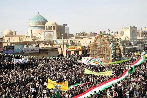 مسيرات ذكرى انتصار الثورة الاسلامية يزد