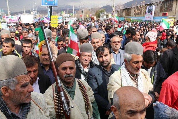 مسيرات ذكرى انتصار الثورة الاسلامية ياسوج