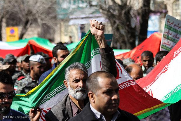 مسيرات ذكرى انتصار الثورة الاسلامية  سیرجان