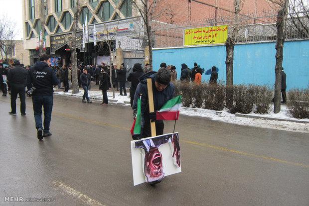 مسيرات ذكرى انتصار الثورة الاسلامية اردبيل