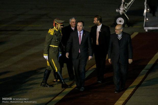 وصول رئيس وزراء السويد الى طهران