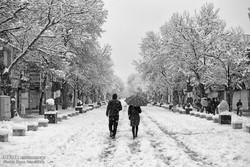 Snowy day in Hamadan