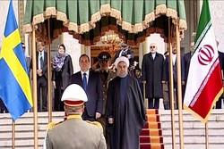 مراسم استقبال رسمی از نخست وزیر سوئد در سعدآباد برگزار شد