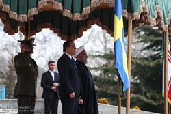 İsveç Başbakanı'nın karşılama töreninden kareler