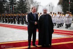 مراسم استقبال رسمی از نخست وزیر سوئد