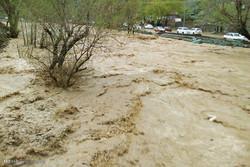 بارش باران و آبگرفتگی معابر در البرز/سیلابی شدن رودخانه کرج
