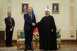 الرئيس روحاني يستقبل رئيس جمهورية مولدافيا / صور