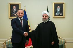 Ruhani'nin Moldova Cumhurbaşkanı'yla görüşmesi