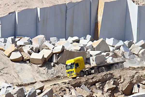 منحنی صادرات صنعت سنگ کشور در سرآشیبی/ خام فروشی جولان میدهد