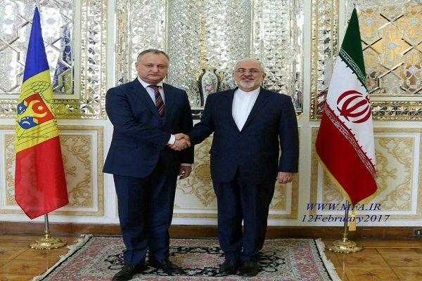 Zarif ile Moldova Cumhurbaşkanı'nın görüşmesi