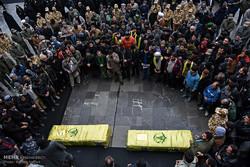مراسم تشییع پیکر مطهر دو شهید مدافع حرم در مشهد