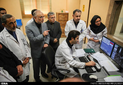 Salehi visiting a nuclear medicine center in Tehran