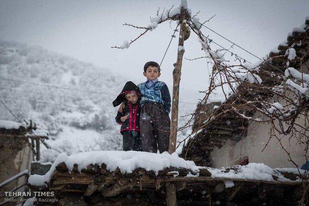 Cold winter days of Belker village