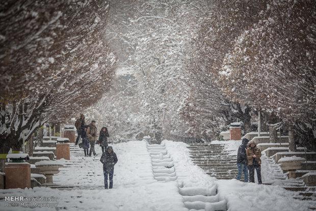 يوم مثلج في العاصمة طهران