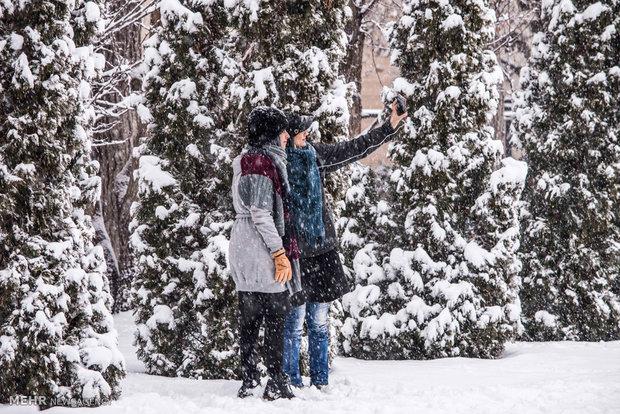 Heavy snowfall in Alborze province