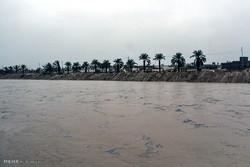 وقوع سیل در خوزستان/۸۰ خانوار گرفتار شدند