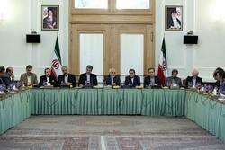 """أعضاء """"كتلة الدبلوماسية والمصالح الوطنية"""" في لقاء مع ظريف"""