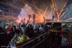 تائیوان میں آتش بازی کا خطرناک فیسٹیول