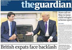 صفحه اول روزنامههای انگلیسی ۲۶ بهمن ۹۵