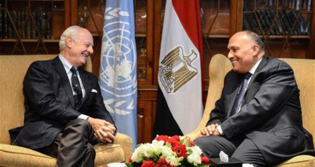 De Mistura, Shukri prepare for Geneva talks on Syria