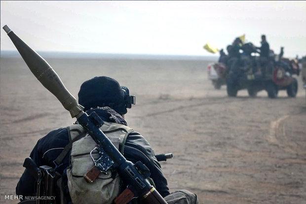 شريط مصور عن معارك القوات العراقية مع الارهابيين في الساحل الايمن للموصل