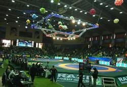 مراسم افتتاحیه مسابقات جام جهانی کشتی آزاد در کرمانشاه برگزار شد