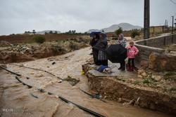 بارش شدید باران در شهرستان داراب استان فارس