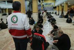 ۴۸۵ حادثه دیده در محل های اسکان اضطراری مستقر شده اند