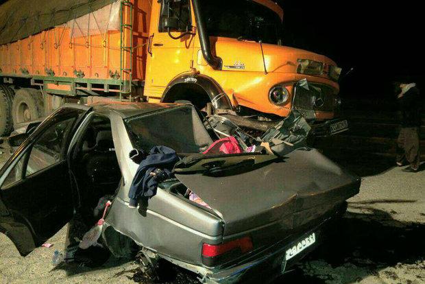 ۴ کشته در ۶ تصادف مرگبار/ واژگونی سه خودرو