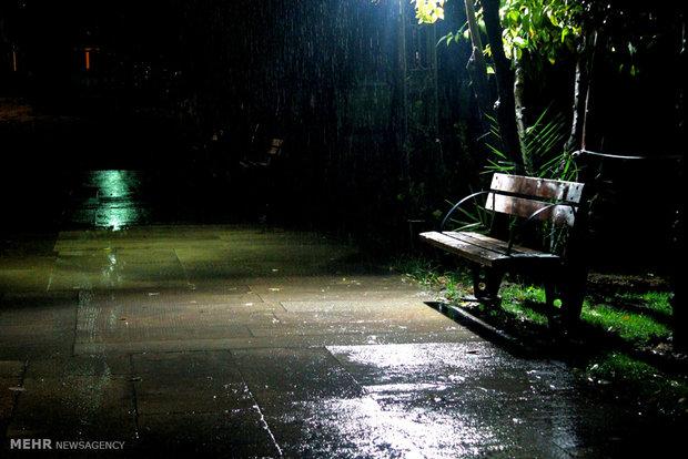 Rainy weather in Iranian southern city of Shiraz