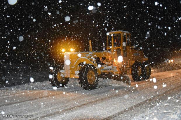 بارش شدید برف در شهرستان مرزی آستارا