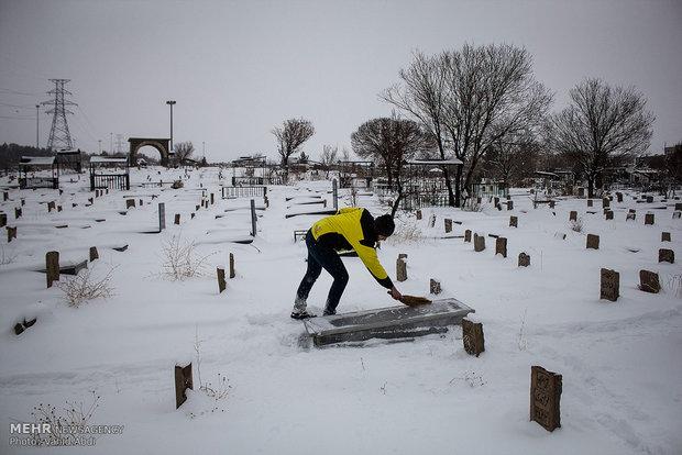 Tabriz under snow