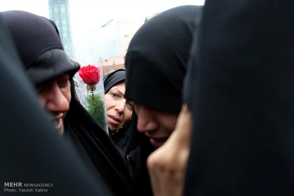 مراسم تشییع پیکر شهید مدافع حرم مصطفی زال نژاد