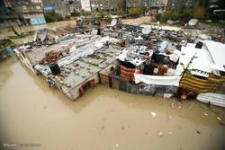 غزہ میں سیلاب سے تباہی