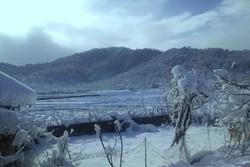 بارش برف ۸۰ سانتی متری در ارتفاعات فومن/ تمامی راه ها باز است