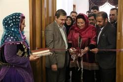 World Crafts Council-Asia Pacific Region President Ghada Hijjawi-Qaddumi cuts ribbon on a Tehran branch on February 17, 2017.